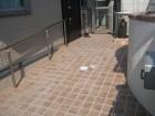 レンガを並べたようなバリアフリースロープ 愛知県豊明市