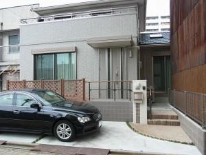 アクセントのある門柱 愛知県名古屋市2