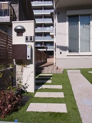 芝のある外構 名古屋市2
