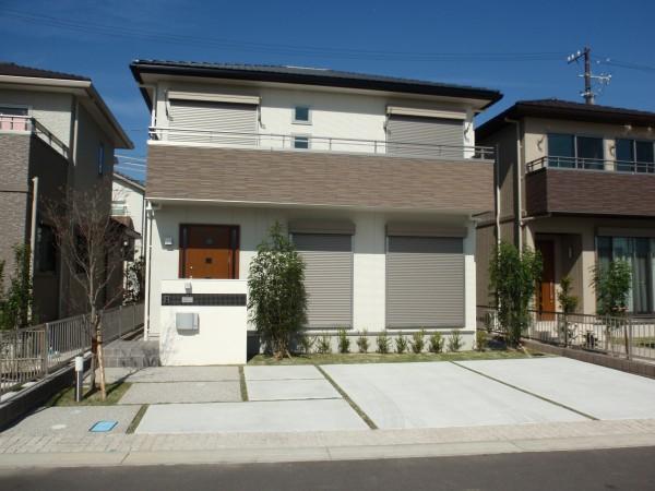 シンプルモダンな外構 名古屋市1