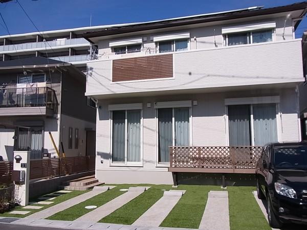 芝のある外構 名古屋市1