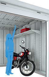 バイク保管庫 イナバ物置3