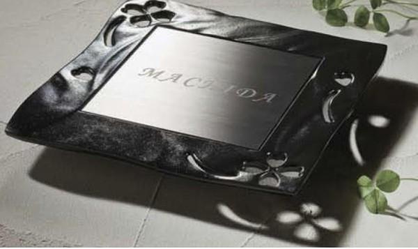 鋳物枠ステンレスサイン TOEX1