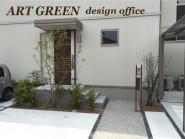 緑の映える外構