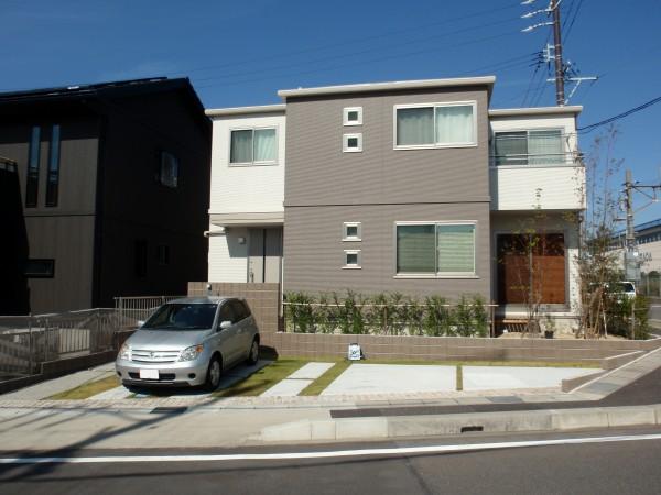 明るいオープン外構 名古屋市1