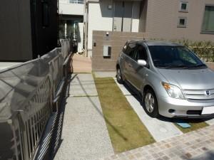 明るいオープン外構 名古屋市2