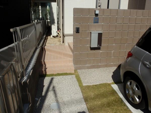 明るいオープン外構 名古屋市4
