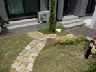 やわらかなラインのレンガ花壇  愛知県名古屋市