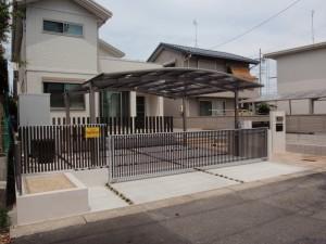 洗練されたシンプルモダンな門周り 名古屋市2