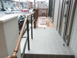 アクセントのある門柱 愛知県名古屋市3